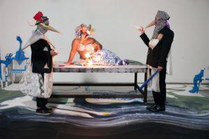 """Ramin Haerizadeh, Rokni Haerizadeh und Hesam Rahmanian"", SCHIRN KUNSTHALLE FRANKFURT, The Birthday Party, 2015, courtesy the artists © Maaziar Sadr"