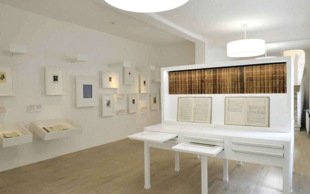 """Blick in die Ausstellung """"Händel – der Europäer"""" © Stiftung Händel-Haus"""