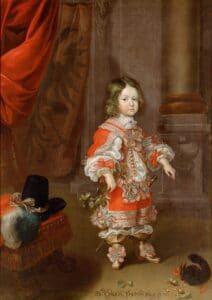 Erzherzog Karl Joseph von Österreich (1649–1664) mit einem Eichhörnchen, Cornelis Sustermans, 1653/54, Öl auf Leinwand, Kunsthistorisches Museum Wien, Gemäldegalerie © KHM-Museumsverband