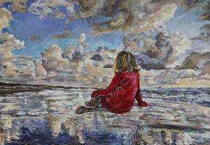 """""""Venedig auf Reisen"""": Helga Druml, Ohne Titel, 2015, Öl auf Leinwand, 140x200 cm, © bei der Künstlerin"""